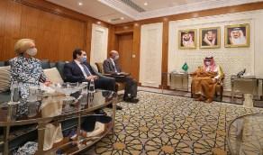 سمو وزير الخارجية يستقبل المبعوث الأمريكي الخاص لشؤون إيران