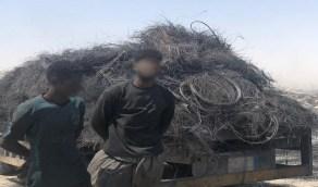 بالصور.. ضبط مضرمي حريق إطارات بأحد مرادم المنطقة الشرقية