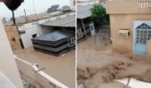فيديو مؤثر لسيدة عمانية تصرخ بعد اجتياح السيول لمنزلها