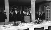 صورة تاريخية لزيارة الملك سعود للسياسي جورج أوغست