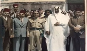 صورة متداولة للملك سعود في القدس قبل 68 عامًا