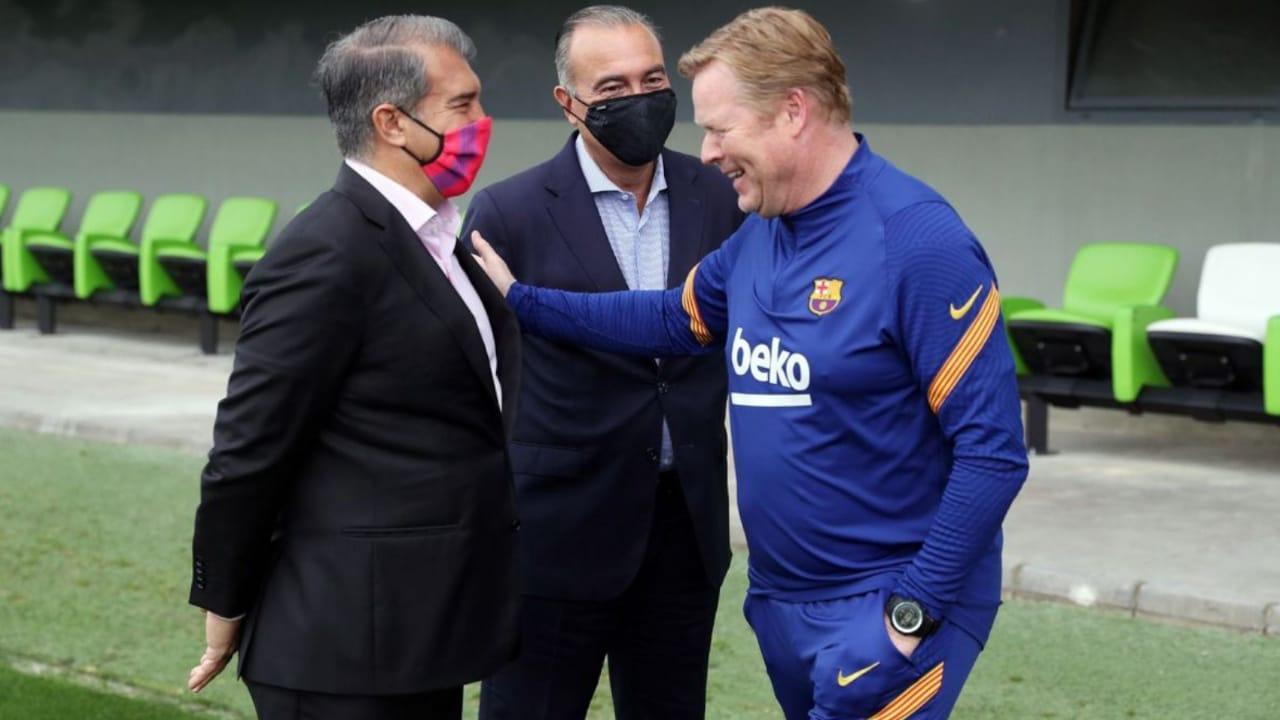 سبب وحيد يعرقل إقالة كومان من تدريب برشلونة