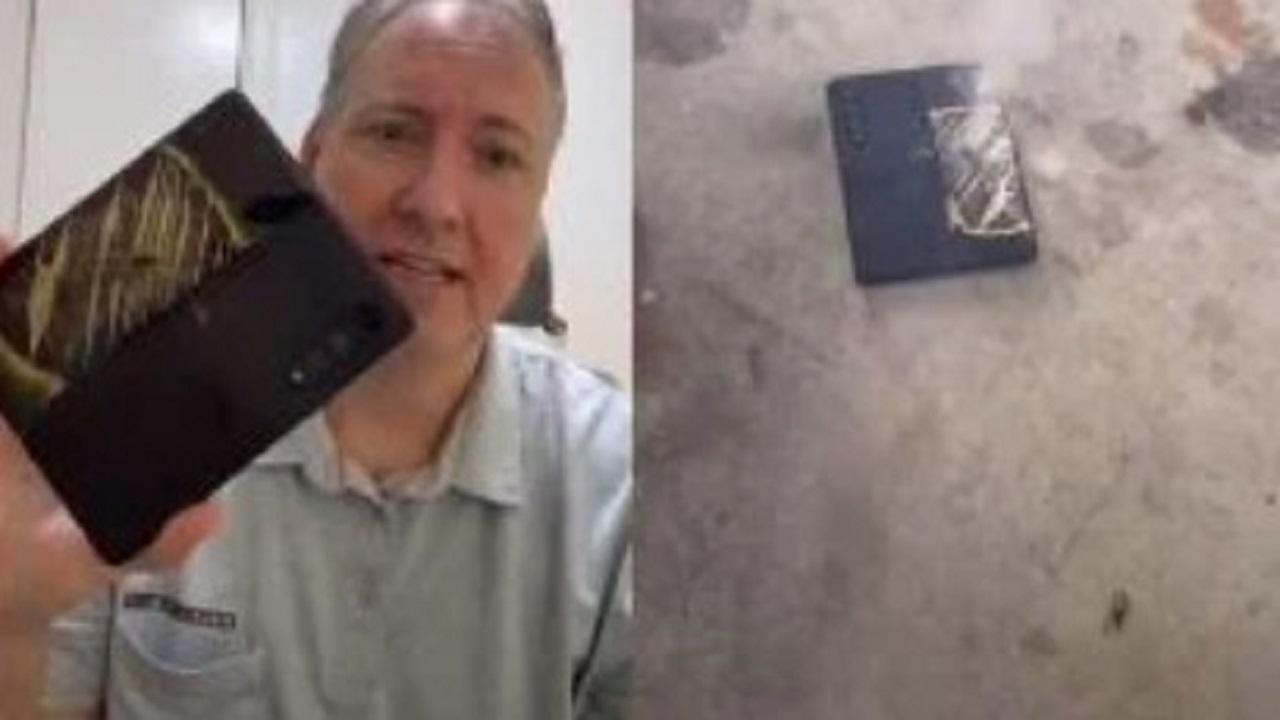 انفجار هاتف سامسونج القابل للطي
