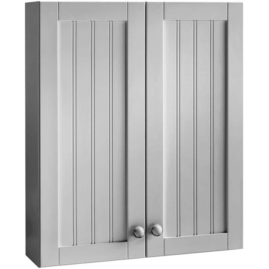 Lowes Style Selections Gray Bathroom Wall Cabinet 69