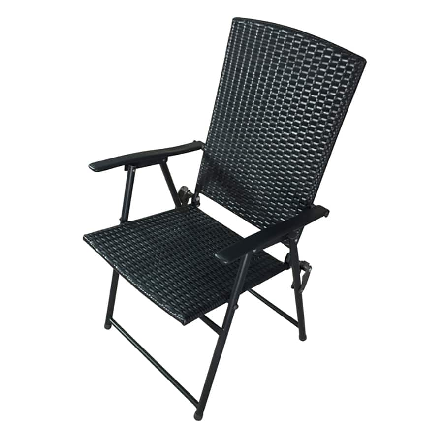 Foldable Patio Chairs Lowe S Garden Treasures Brown Steel Folding Patio Conversation