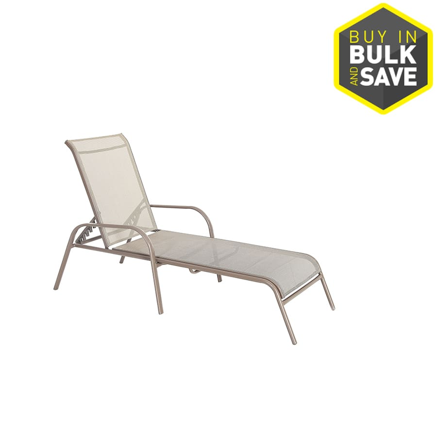 steel net chair antique dentist chairs lowe s garden treasures outdoor stackable chaise lounge 40 table 29 ymmv