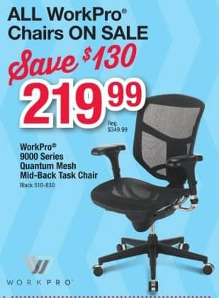 office depot chair sale family dollar lawn chairs and officemax black friday: workpro quantum 9000 series ergonomic mesh mid-back ...