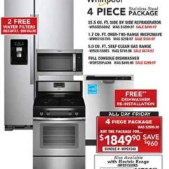 4 Piece Stainless Steel Kitchen Package Space Saving Tables Pc Richard Son Black Friday Whirlpool Appliance For 1 849 90