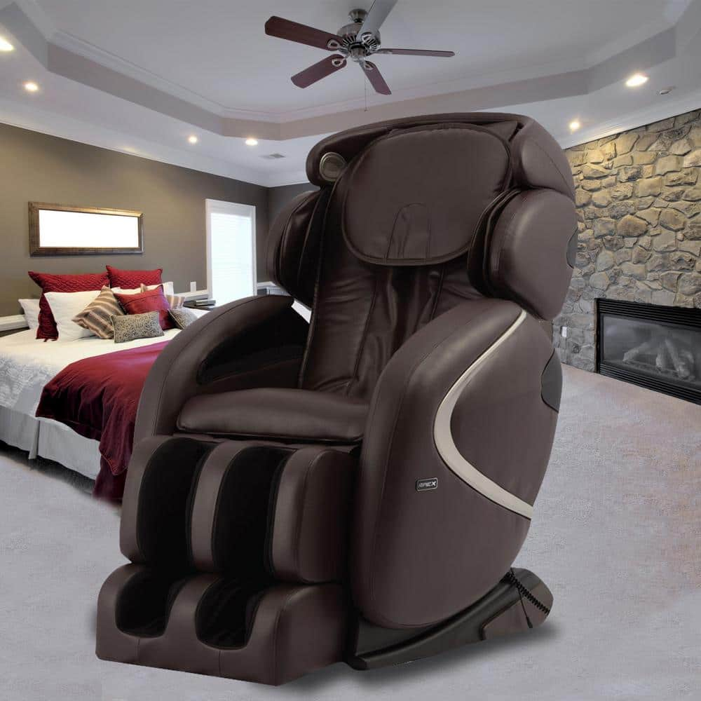 At Home Chairs Titan Osaki Gray Faux Leather Reclining Massage Chair