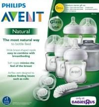 Avent Natural Glass Bottle Baby Newborn Starter Set ...