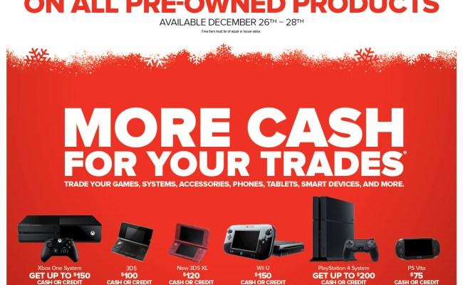 Upcoming Gamestop Cash Credit Trade In For Game