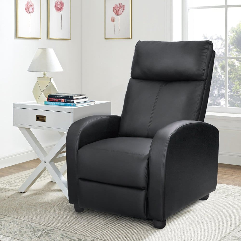 amazon recliner chairs leather desk chair modern homall single padded seat black wear resisting pu 125 shipped 124 98 slickdeals net