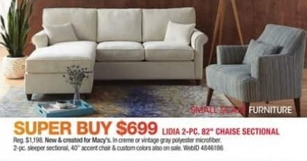 macy s sectional sofa sleeping babies black friday lidia 2 pc 82 chaise for 699 00