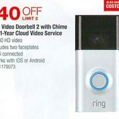 Ring Doorbell For Sale Humminbird Transducer Wiring Diagram Costco Wholesale Black Friday Video 2 Chime 1 Year Cloud