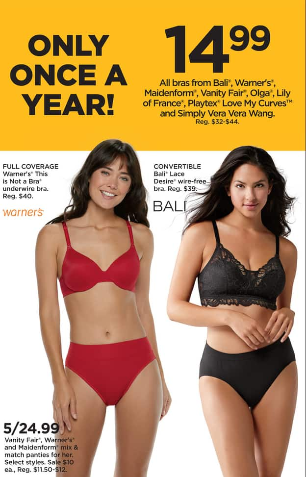 kohl s black friday 5 vanity fair warner s and maidenform women s panties mix match select styles for 24 99