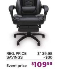 Sams Club Chairs Target Patio Folding Sam S Black Friday Respawn 110 Gaming Chair For 109 98