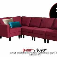 Overstock Sofa Abbyson Black Friday Christopher Knight Home Zahra 5 Pc Fabric Sectional For 499 99