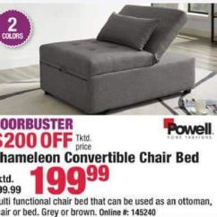 Chair To Bed Convertible Captain Chairs Suv Boscov S Black Friday Powell Chameleon For 199 99