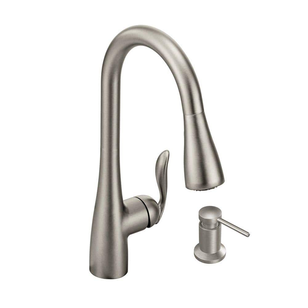 kitchen faucet moen high gloss cabinets home depot kaden single handle pull down sprayer with reflex and power clean in chrome 111 more free shipping 10 7 18 only