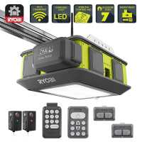 Ryobi Ultra-Quiet 2 HP Belt Drive Garage Door Opener ...