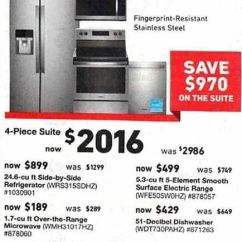 Lowes Kitchen Appliances Cabinets Unfinished Lowe S Black Friday Whirlpool 4 Piece Suite Refrigerator Dishwasher Range And Microwave For 2 016 00