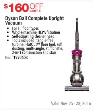 Costco Wholesale Black Friday: Dyson Ball Complete Upright