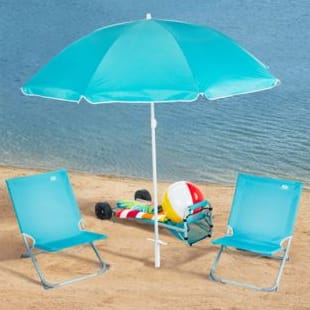 beach chairs and umbrella jenny lind rocking chair white acadamy sports 5pc gear set blue 2 wheeled cart carry bag 35 shipped slickdeals net