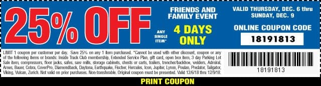 Harbor Freight 20 Coupon Code
