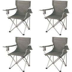 Walmart Camp Chair Diy Folding Cap Covers 4 Ct Ozark Trail Classic Chairs Gray Slickdeals Net Deal Image