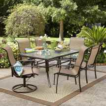 7-piece Garden Oasis Harrison Textured Glass-top Outdoor