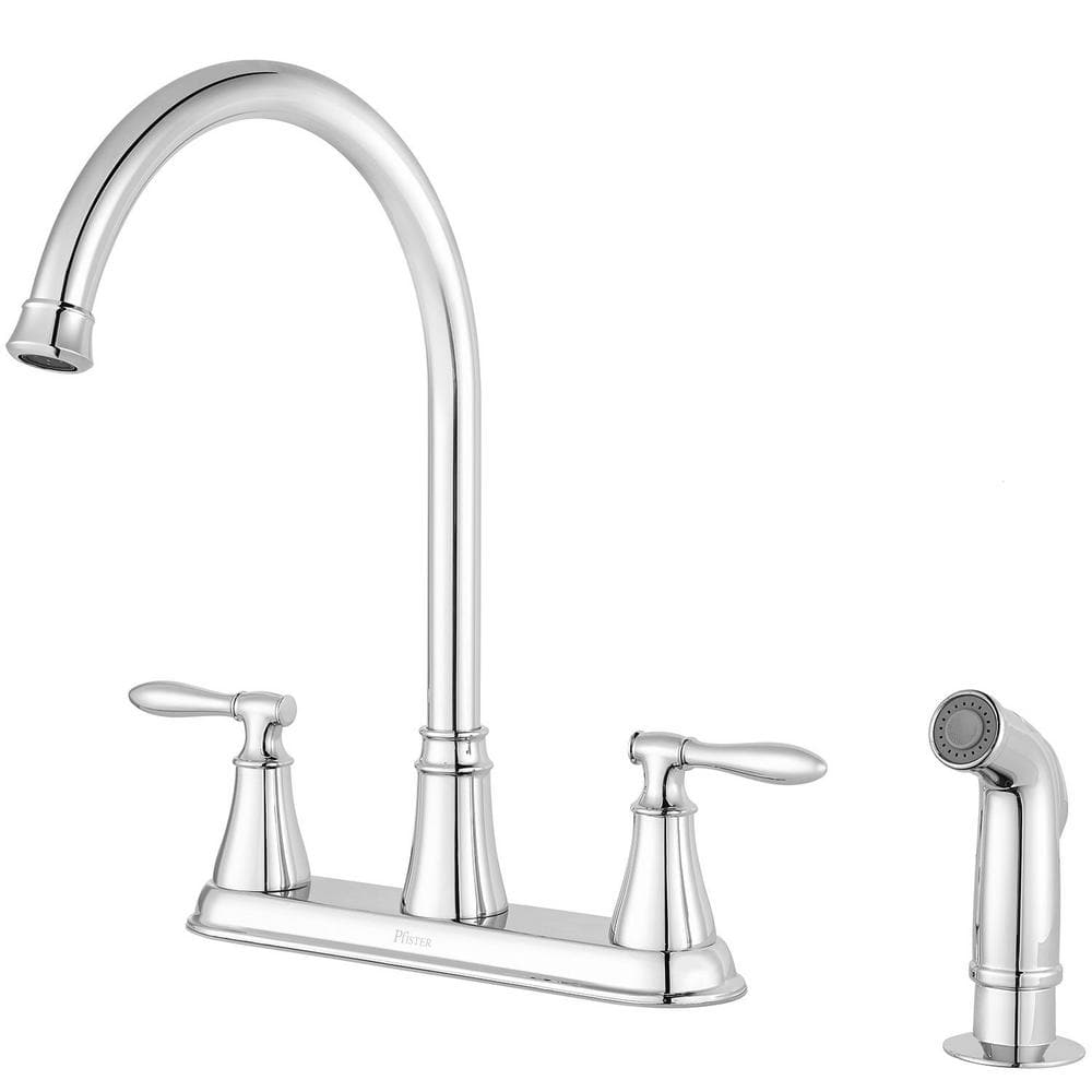 kitchen side sprayer furniture stores pfister glenora 2 handle faucet w in chrome 64 free shipping was 132 slickdeals net