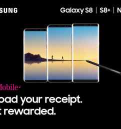purchase t mobile samsung note8 and earn 40000 rewards points [ 1080 x 820 Pixel ]