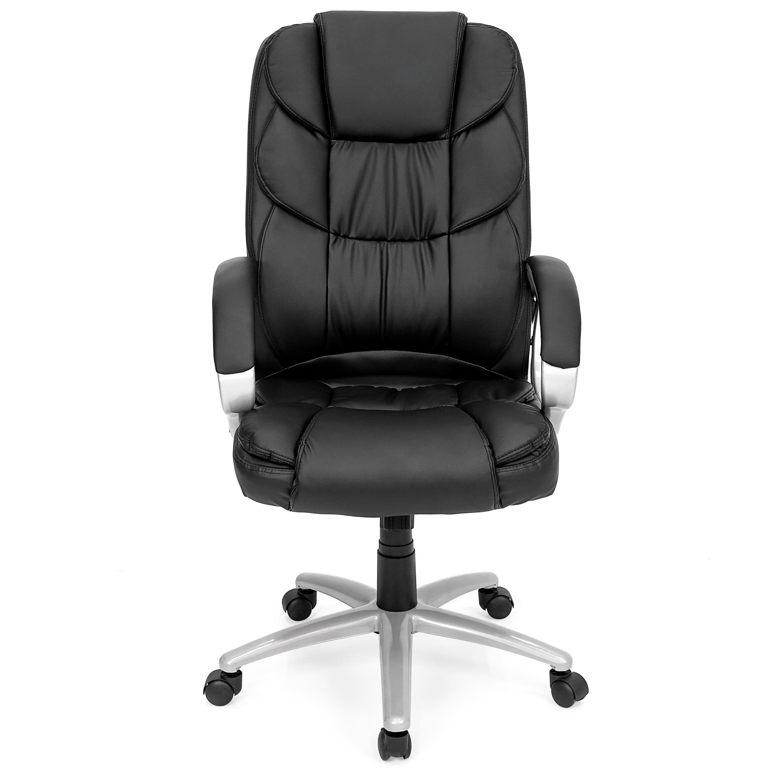 pu leather office chair desk school bcp ergonomic high back executive black 55 99 slickdeals net
