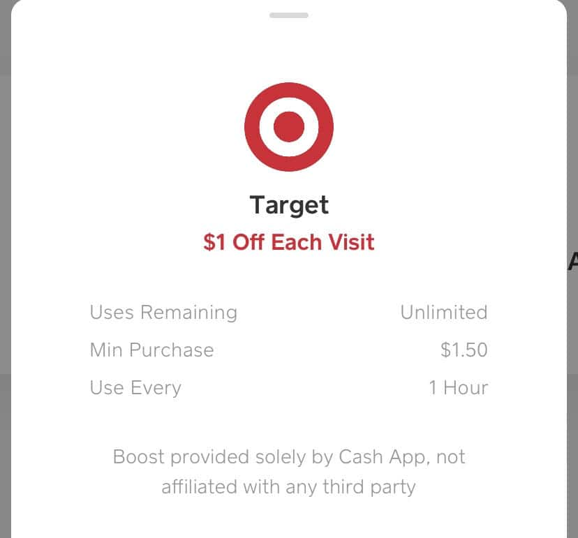 Cash app $1 unlimited Target boost (IOS and Android