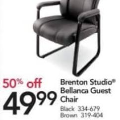 Brown Office Guest Chairs Pink Chair Covers For Weddings Depot And Officemax Black Friday Brenton Studio Bellanca 49 99