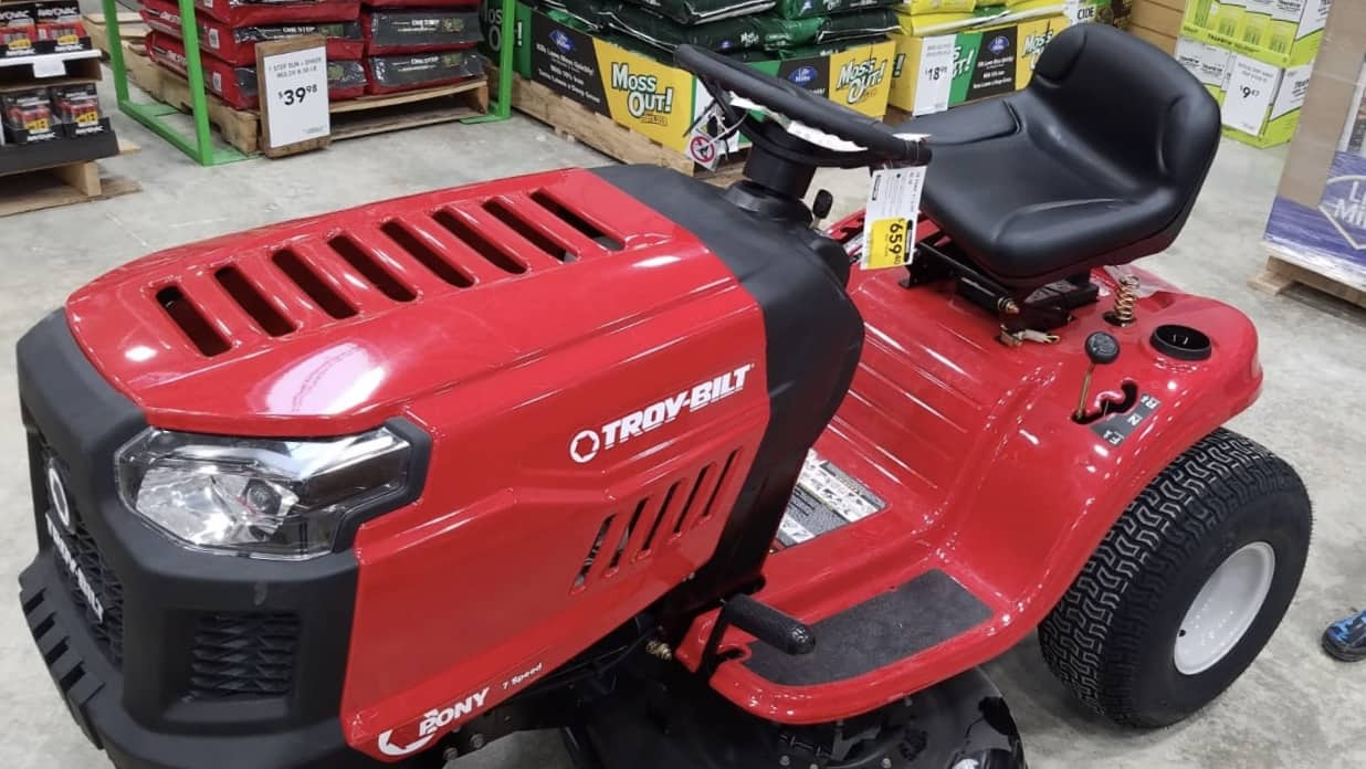 hight resolution of troy bilt pony 17 5 hp manual gear 42 in riding lawn mower 659
