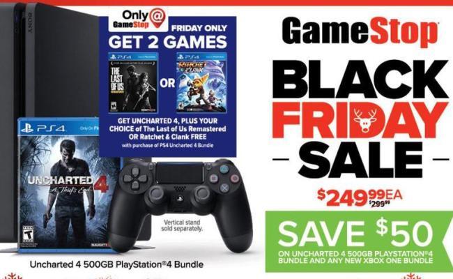 Gamestop Black Friday Playstation 4 500gb Uncharted 4