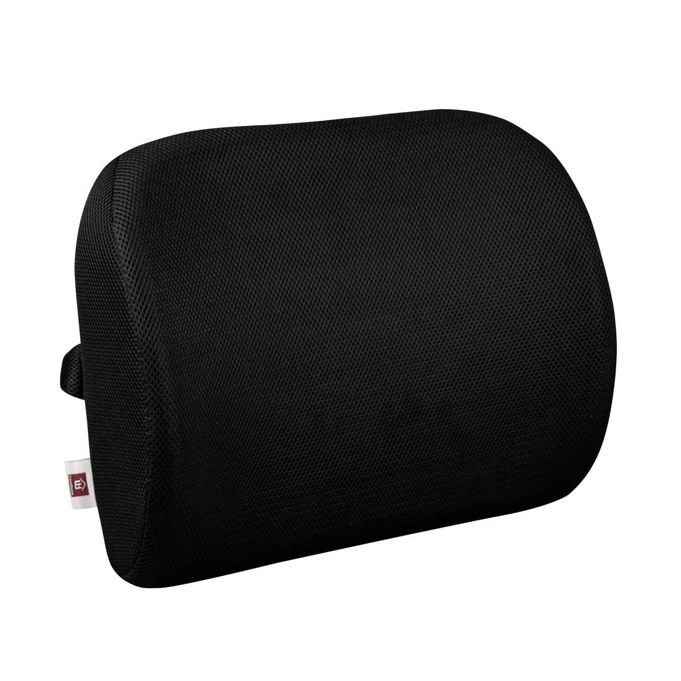 office chair back support cushion reviews black bar chairs lumbar for with 3 way