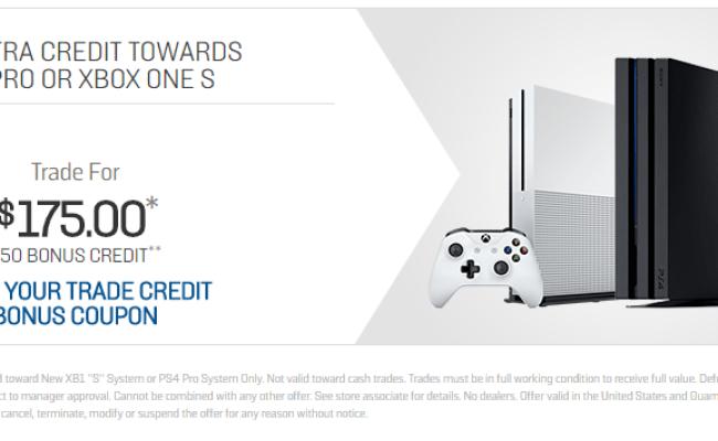 Gamestop 50 Bonus Credit When Trading In Ps4 Xbox One