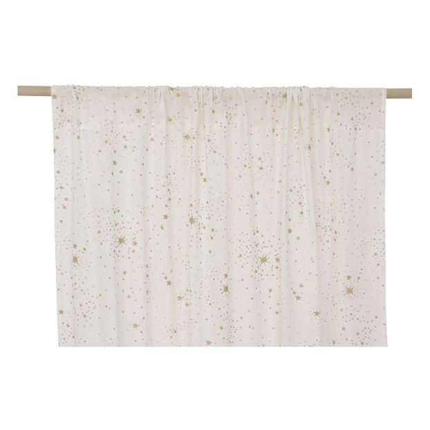 rideau utopia en coton bio blanc