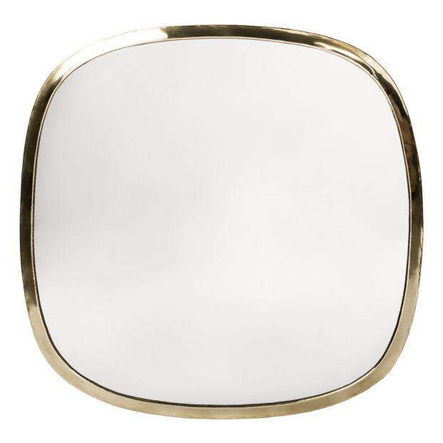 miroir carre laiton 58x58 cm laiton
