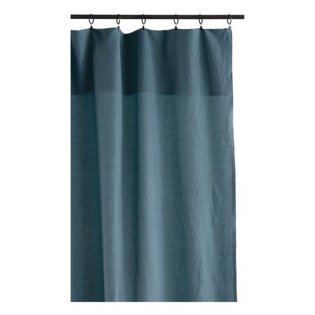 rideau lina bleu gris