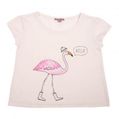Pink Flamingos T-Shirt Ecru Emile et Ida