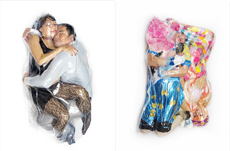 """flesh love duo 15 iihih - """"딱 붙어 있을거야"""" 일본에서 화제 된 '진공 포장' 커플 사진"""