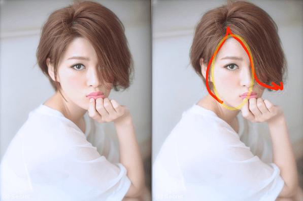 顔の大きさを上手にカバー에 대한 이미지 검색결과
