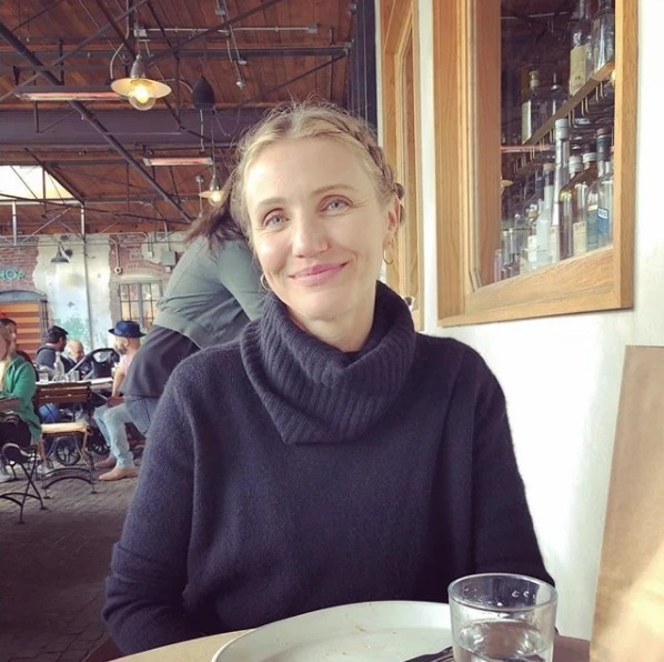 Cameron Diaz 'Overjoyed' After Welcoming First Baby With ... Cameron Diaz Instagram