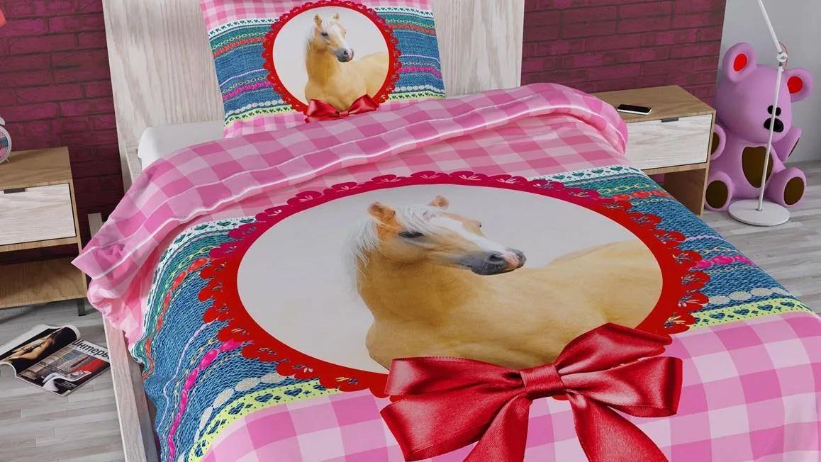 Marielle paard dekbedovertrek  dessin met paard
