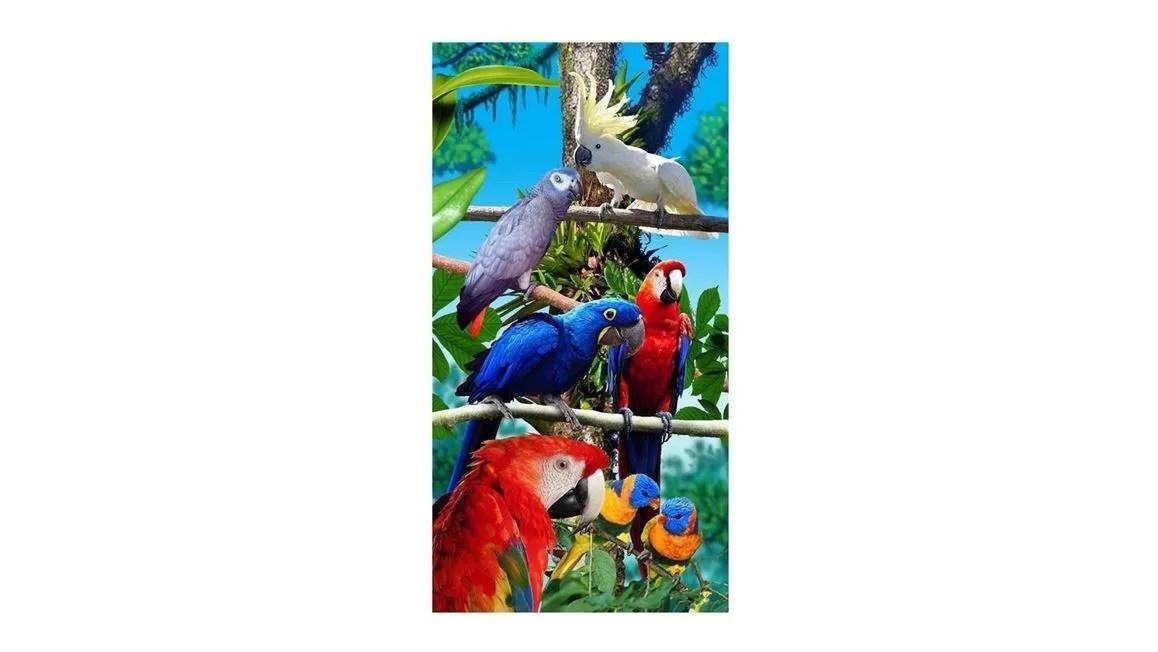 Papegaaien strandlaken  Multi  Smulderstextielnl