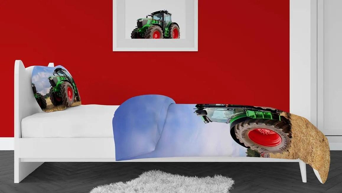 Snoozing Tractor dekbedovertrek  tractor opdruk  100
