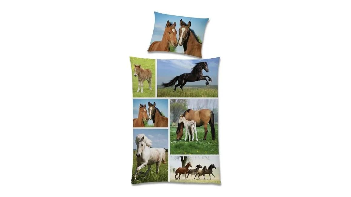 Wild Life dekbedovertrek  lief dessin met paarden